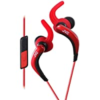JVC HA-ETR40 Splashproof Sporty In-Earphone with one-button mic/remote - Red (International Version)