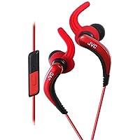 JVC HA-ETR40 Splashproof Sporty In-Earphone with one-button mic/remote - Red (International Version)