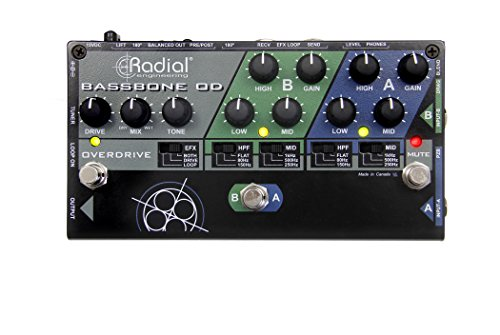 Radial Engineering Bassbone OD Bass Preamp With Overdrive by Bassbone OD