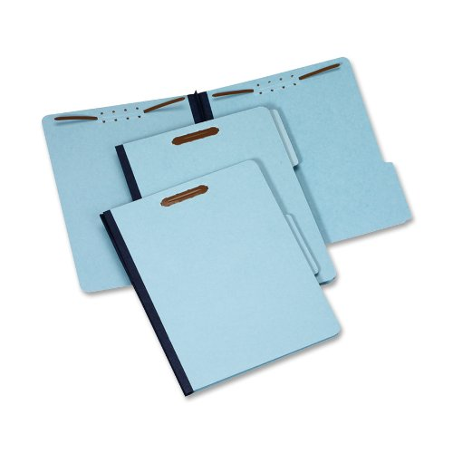 Globe-Weis/Pendaflex Pressboard File Folder with 2 Fasteners, 1 Inch Expansion, 1/3 Tabs, Letter Size, 25-Pack, Blue, (615F21-3BLU)