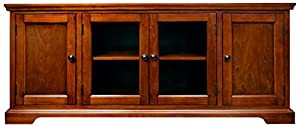leick westwood cherry hardwood tv stand 60inch