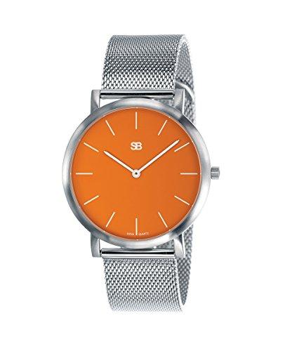 SOB1003 Steel Blaze Watch w/Mesh Bracelet