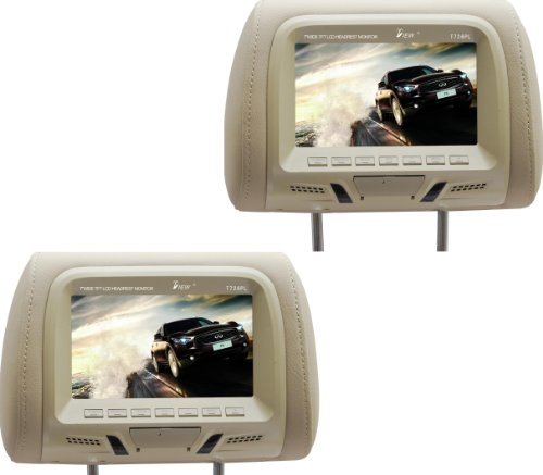 Tview T726PL-TN 7-Inch Car Headrest Monitor (Beige)
