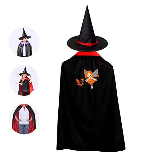 69PF-1 Halloween Cape Matching Witch Hat Fantasy Girl