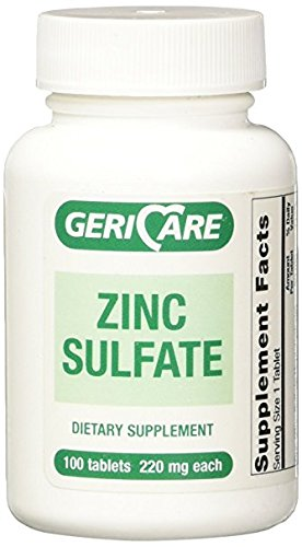 GeriCare Zinc Sulfate Tablets, 220mg, 100ct (2 Pack)