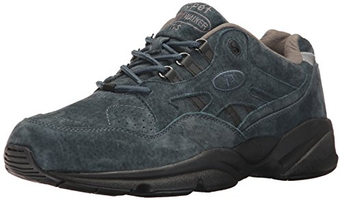 (Propet Men's Stability Walker Sneaker Denim Suede 14 E US)