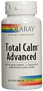 Solaray Total Calm Advanced Veg Capsules, 60 Count