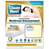 Clean Rest Premium Water-Resistant, Allergy and Bed Bug Blocking Mattress Encasement, King