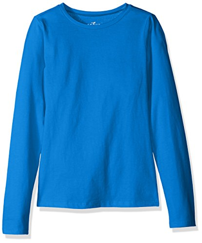Scout + Ro Girls' Long-Sleeve Basic Crew-Neck T-Shirt