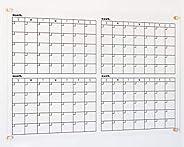 Quarterly Calendar | 26x38 calendar | 4 month wall calendar | Large Acrylic Calendar