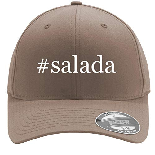 #Salada - Adult Men's Hashtag Flexfit Baseball Hat Cap, Khaki, Large/X-Large