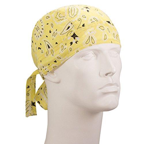 Bandana.com Light Yellow Paisley Doo RAG