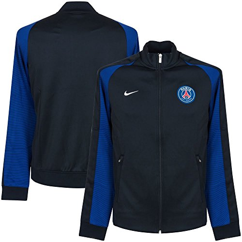 Nike Men's Paris Saint-Germain N98 Authentic Soccer Jacket(Black/Grey) – DiZiSports Store