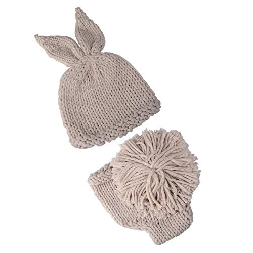 ography Props Baby Boy Girl Knit Bunny Rabbit Photo Picture Outfits Beige ()