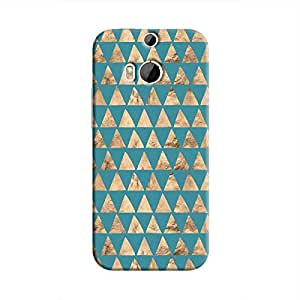 Cover It Up - Brown Blue Triangle Tile One M9 Plus Hard Case