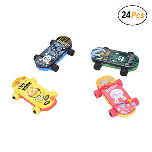 Skateboard Erasers,Pack of 24