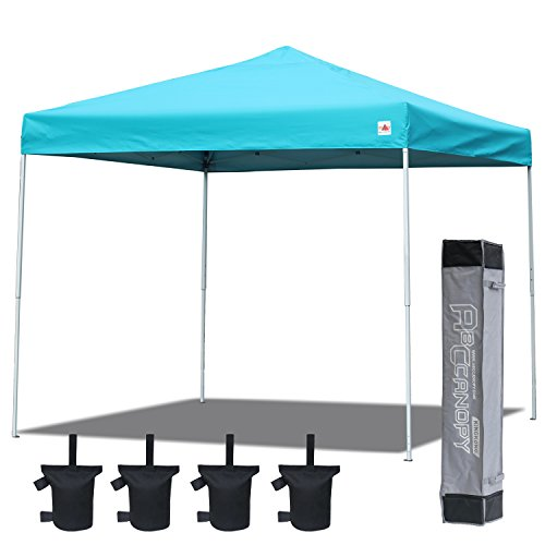 ABCCANOPY 10×10 Straight Leg Easy Pop Up Canopy Party Tent Portable Event Outdoor Canopy With Carry Bag Bonus Weight Bag(Sky Blue)