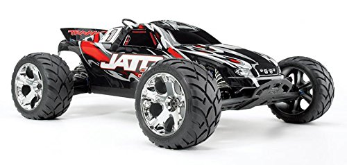 Traxxas Jato 3.3: 1/10 Scale Nitro-Powered 2WD Stadium Truck with TQi 2.4GHz Radio and TSM, Red