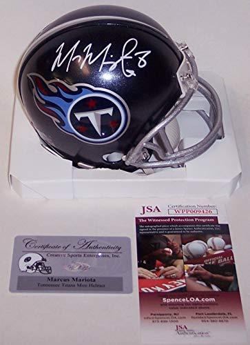 Marcus Mariota Autographed Hand Signed Tennessee Titans Mini Football Helmet - (Signed Titans Mini Helmet)