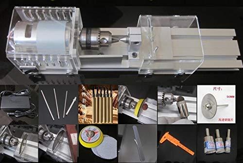 Fevas Mini DIY Woodworking Lathe Beads Lathe Wood Cutting Machine Drilling Machine Polishing Machine