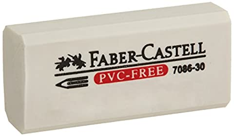 Faber-Castell FC800070 Eraser, Vinyl, Fishbowl, 1-5/8