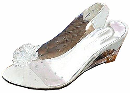 Rom stilvolle hochwertige Mode Keilabsatz Sandalen Kleid Dame der beiläufigen Schuhe Sandalen Big Size 34-41 Silber