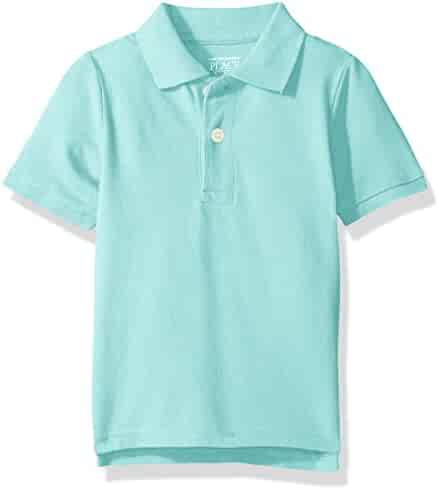 The Children's Place Boys' His Li'l Short Sleeve Solid Polo