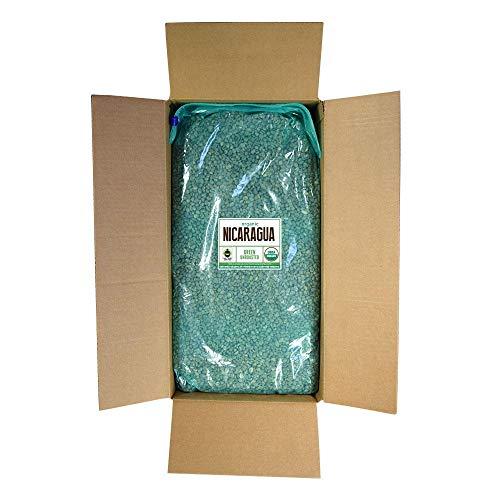 Fresh Roasted Coffee LLC, Green Unroasted Nicaraguan Coffee Beans, Fair Trade, USDA Organic, Bulk 25 Pound Bag