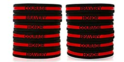 Firefighter Appreciation Wristbands 1, 3 & 12 Pack of Support Bands / Bracelets
