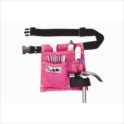 Bourn Tough LP-34 5 POCKET SUEDE LEATHER PINK TOOL BELT POUCH - Pink Belt Tool