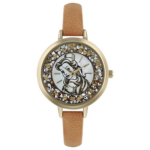 Disney Princess Womens Analogue Classic Quartz Watch with Leather Strap PN5043