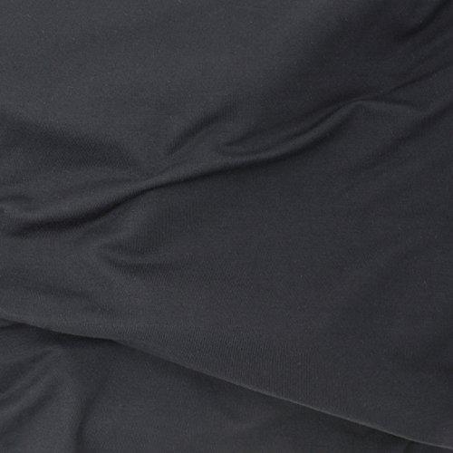 "TELIO"" Stretch Bamboo Rayon Jersey Knit, Black"