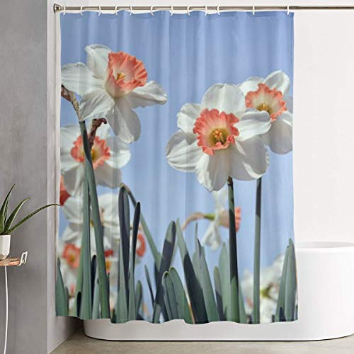 Mikonsu Lihna Shower Curtain with Hooks Nature Plant Flower Summer Live Color Art Bathroom Decor Bath Curtain-60x70 in]()