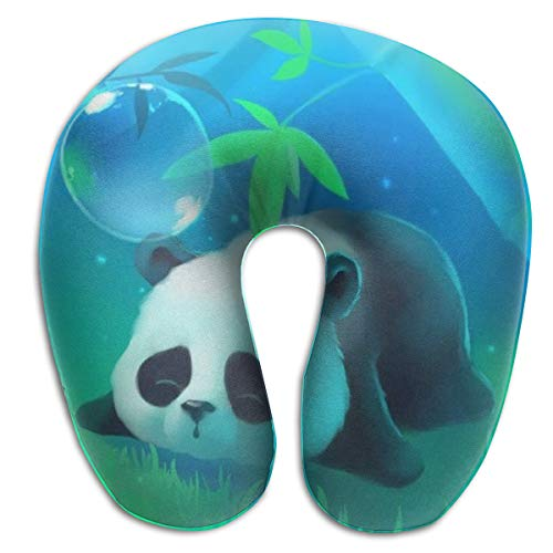 NiYoung Neck Pillow Travel Pillow Compact Cute Panda Pillow Supports The Head Plane Pillows, Breathable & Comfortable, Restful Sleep Car Airplane Neck Pillow ()