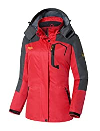 Wantdo Women's Hooded Windproof Raincoat Lightweight Waterproof Rain Jacket
