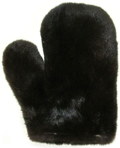 Double Sided Mahogany Mink Love Massage Mitten-One Piece