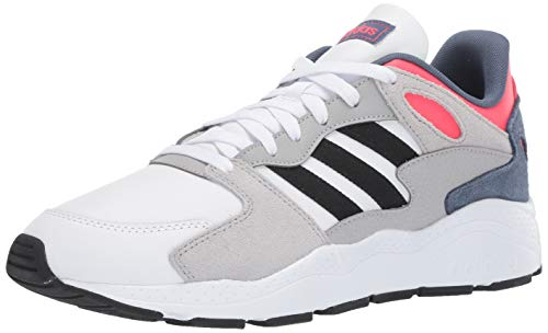 adidas Men's Chaos Sneaker, White/Black/Shock Red, 12 M US