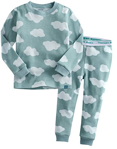 Vaenait Baby Kids Boys Sleepwear Pajama Top Bottom Set Long Cloud Blue L