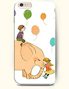 OFFIT iPhone 6 Plus Case 5.5 Inches An Elephant Hugging with a Little Girl wangjiang maoyi
