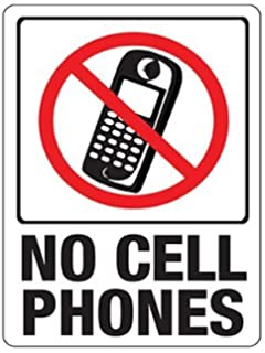 Amazon.com : No Cell Phone Use Sign - Cellular Phones Prohibited ...