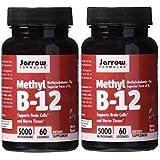 Jarrow Formulas Methylcobalamin (Methyl B12) 5000 mcg CHERRY 120 Lozenges, 2 Bottles