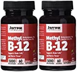 Jarrow Formulas Methylcobalamin (Methyl B12) 5000 mcg CHERRY 120 Lozenges, 2 Bottles