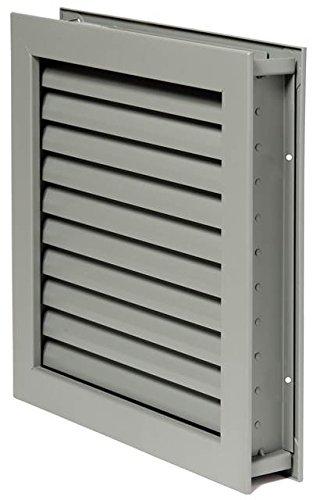 National Guard L190012X12 L-1900-12X12 Fusible Louver Steel 12 x 12'' , 12'' Height, Aluminum by National Guard