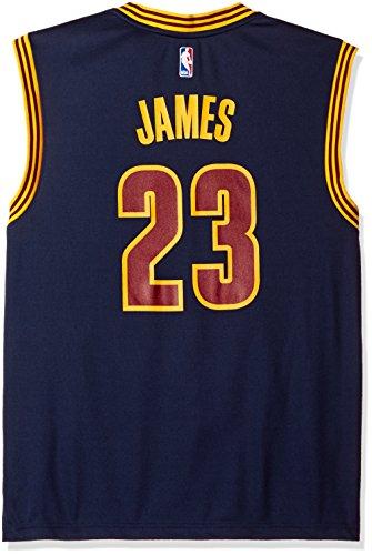 NBA Men's Cleveland Cavaliers LeBron James Replica Player Alternate Road Jersey, 2X-Large, Navy