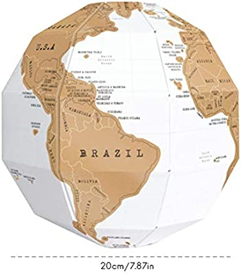 Mallalah - Mapa de mapa de rascar en 3D, mapa del mundo, mapa de ...