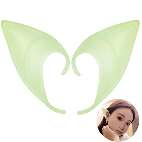 Dark Elf Cosplay Costume (Cosplay Halloween Elf Ears Glow In the Dark Costume Ears Tips (Color 4#))