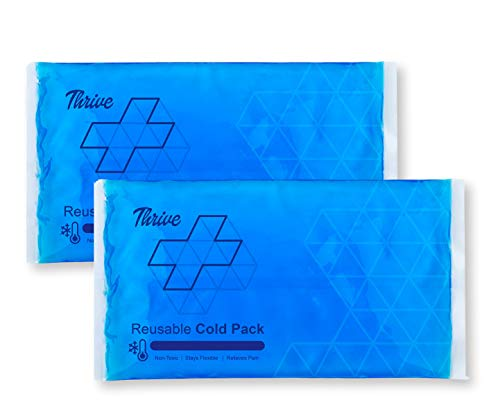 - Reusable Crystal Blue Gel Ice Cold Pack Compress - (2 Pack) - Reusable Vinyl Provides Instant Pain Relief, Rehabilitation and Therapy from Injuries