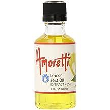 Amoretti Lemon Zest Oil Extract, 2 fl. oz.