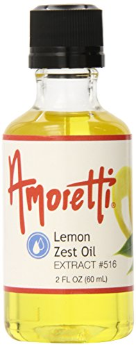 Amoretti Lemon Zest Oil Extract, 2 fl. (Lemon Mousse Recipe)