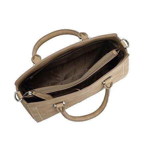 della Kadell delle borsa marrone delle di del delle tracolla della Grigio donne a Borse signore leggere borsa totalizzatore progettista borse fPtrf